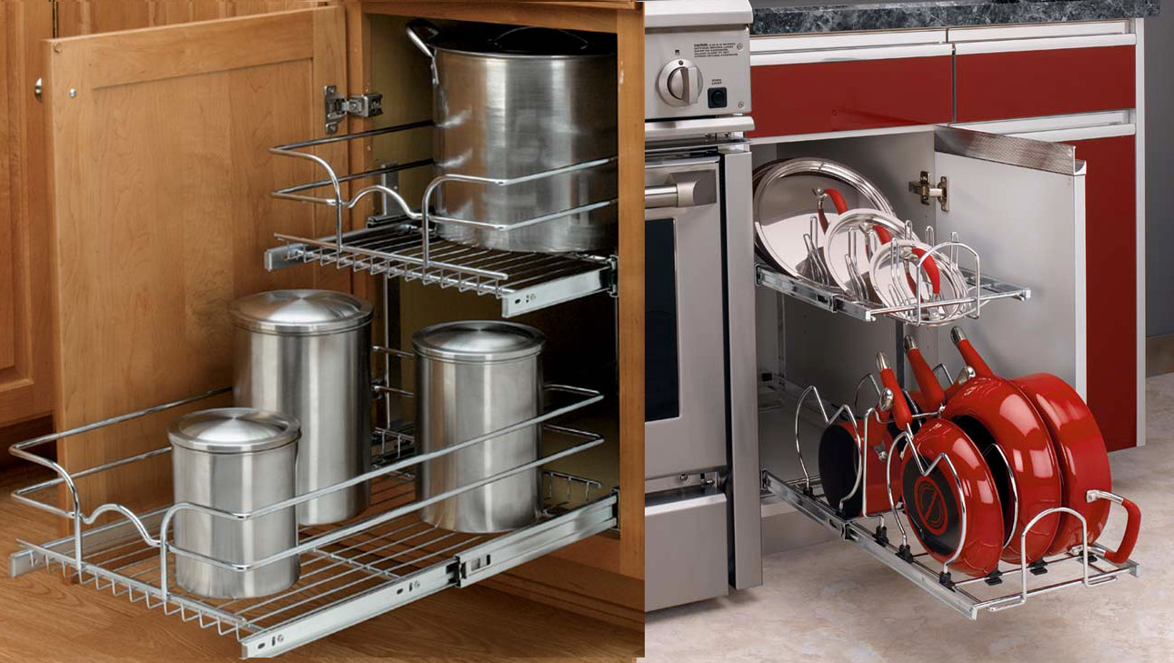 kitchen base cabinet hardware organizers