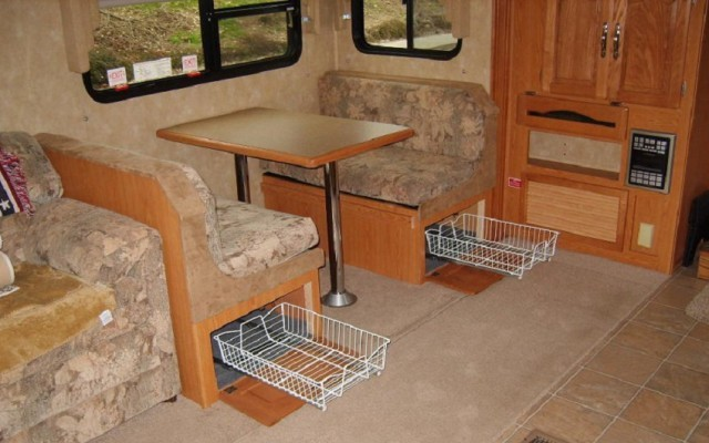 Dinette Bench Storage Pull-Outs